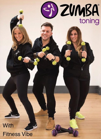 The Fitness Vibe Zumba Toning Team, Akilé, Marco and Sherife