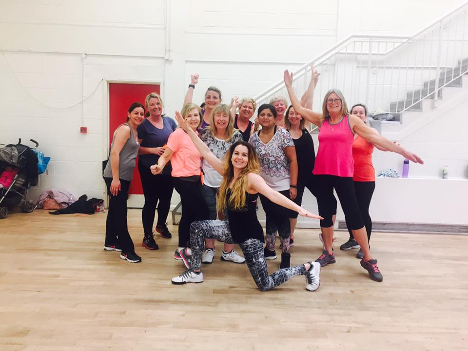 Ewelina Krol‎ and some of her Zumba ladies