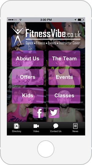 Fitness Vibe mobile app